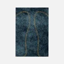 Jeans_doubleStitched Rectangle Magnet