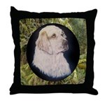 Clumber Spaniel Hunter Throw Pillow