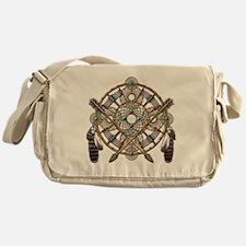 Turquoise Silver Dreamcatcher Messenger Bag