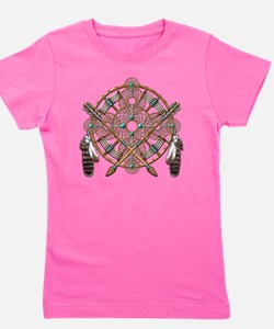 Turquoise Silver Dreamcatcher Girl's Tee