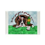 Bassett Hound Party guy!! Rectangle Magnet (100 pa