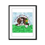 Bassett Hound Party guy!! Framed Panel Print