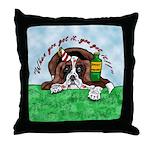 Bassett Hound Party guy!! Throw Pillow