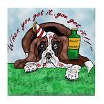 Bassett Hound Party guy!! Tile Coaster