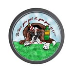 Bassett Hound Party guy!! Wall Clock