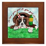 Bassett Hound Party guy!! Framed Tile