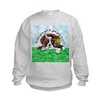 Bassett Hound Party guy!! Kids Sweatshirt