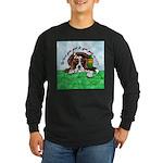Bassett Hound Party guy!! Long Sleeve Dark T-Shirt