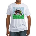 Bassett Hound Party guy!! Fitted T-Shirt