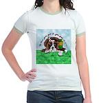 Bassett Hound Party guy!! Jr. Ringer T-Shirt