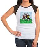 Bassett Hound Party guy!! Women's Cap Sleeve T-Shi