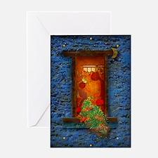 fenetre_windows_clock_lore_M Greeting Card