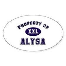 Property of alysa Oval Decal
