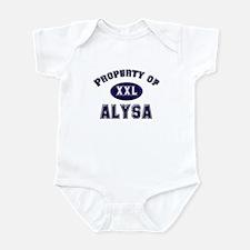 Property of alysa Onesie