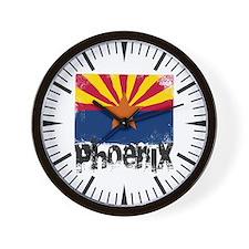 Phoenix Grunge Flag Wall Clock
