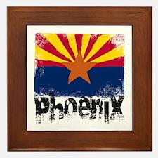 Phoenix Grunge Flag Framed Tile
