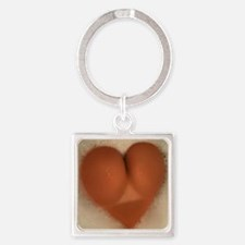 heart Square Keychain