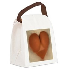 heart Canvas Lunch Bag