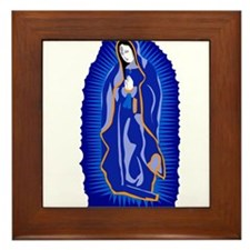 Our Lady of Guadalupe - Blue Framed Tile