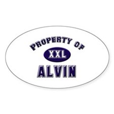 Property of alvin Oval Decal