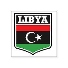 "libya Square Sticker 3"" x 3"""