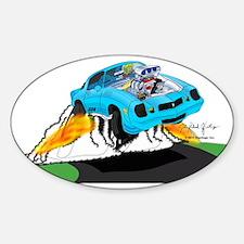Z28_ASB_CP_Flames_noBG Sticker (Oval)