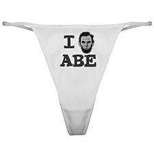 I-love-Abe-Grey Classic Thong