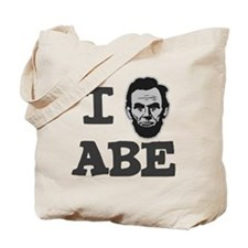 I-love-Abe-Grey Tote Bag