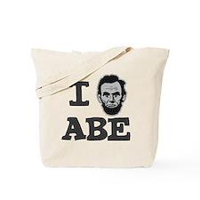 I-love-Abe-Grey Tote Bag