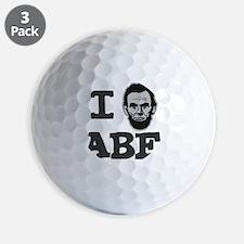 I-love-Abe-Grey Golf Ball