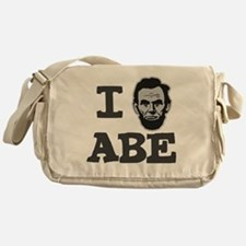 I-love-Abe-Grey Messenger Bag