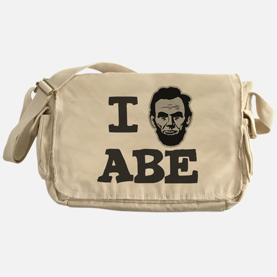 I-love-Abe-Grey Messenger Bag