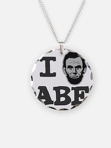 I-love-Abe-Grey Necklace