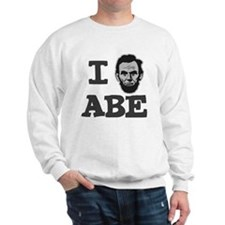 I-love-Abe-Grey Sweatshirt