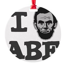 I-love-Abe-Grey Ornament