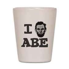 I-love-Abe-Grey Shot Glass