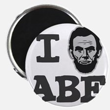 I-love-Abe-Grey Magnet