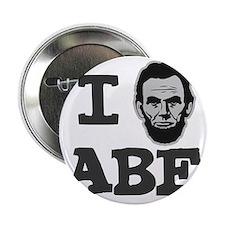 """I-love-Abe-Grey 2.25"""" Button"""