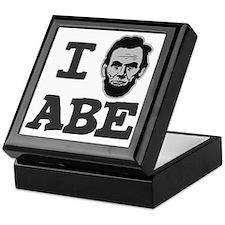 I-love-Abe-Grey Keepsake Box