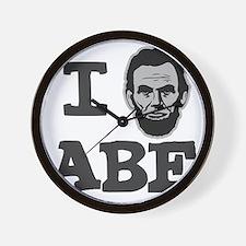 I-love-Abe-Grey Wall Clock