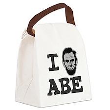 I-love-Abe-Grey Canvas Lunch Bag