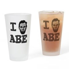 I-love-Abe-Grey Drinking Glass