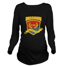 SP3 Shield (B-R) Mis Long Sleeve Maternity T-Shirt