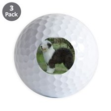 Old English Sheepdog 9F055D-17 Golf Ball
