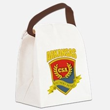 SP3 Shield (B-R) Arkansas Canvas Lunch Bag