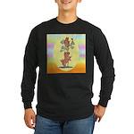 Norwich Terrier & Cat Long Sleeve Dark T-Shirt