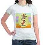 Norwich Terrier & Cat Jr. Ringer T-Shirt