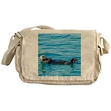Sea otters Messenger Bags & Laptop Bags