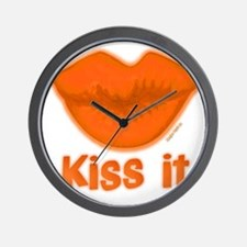 10x10BigSLOPPYkissfilled Wall Clock