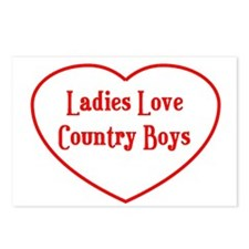 Country Boys Heart Postcards (Package of 8)